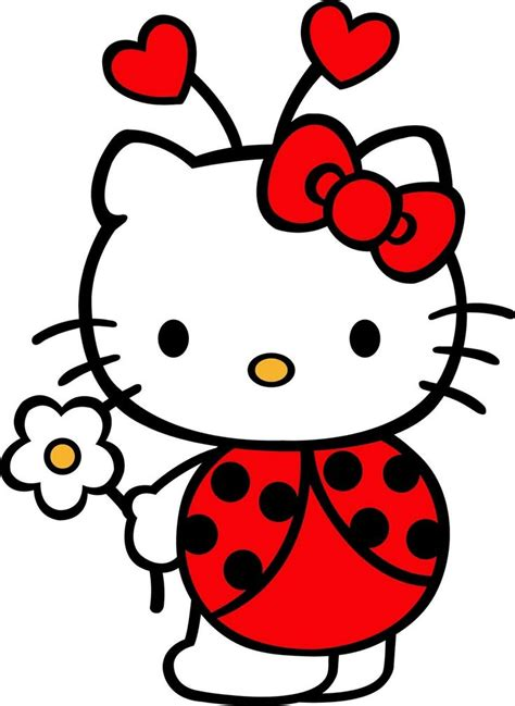 hello kitty ladybug coloring pages 48 best hello kitty images on pinterest hello kitty