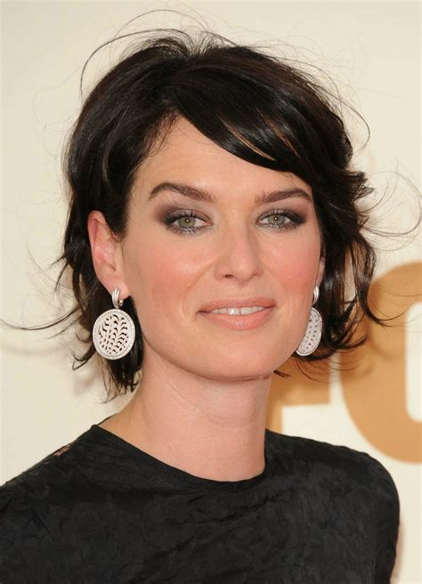 dark hair for older women 2011 primetime emmy awards lena headey photo 28454229