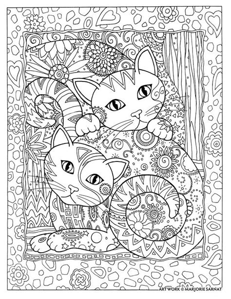 coloring pages field of flowers creative creative cats by marjorie sarnat quot got your