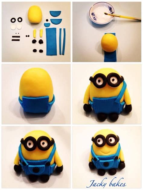Modelling Clay Minion Phil minion step by step fondant characters step by step and minions
