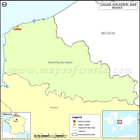 calais map where is calais located in