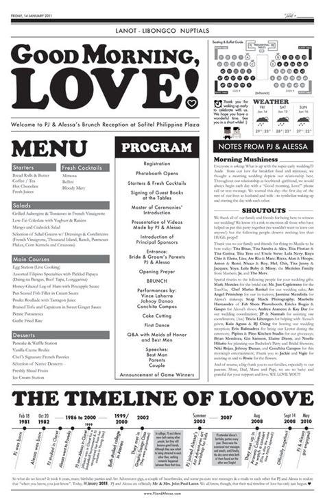 25 Best Ideas About Wedding Newspaper On Pinterest Gangster Wedding Newspaper Format And Newspaper Menu Template