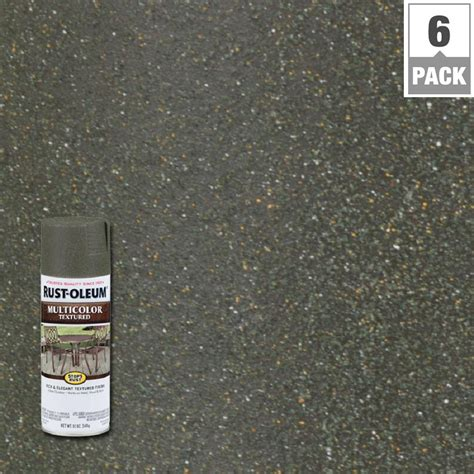 rust oleum stops rust 12 oz protective enamel hammered verde green spray paint 6 pack 7219830