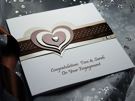 Handmade Greeting Cards Uk - mocha handmade engagement card