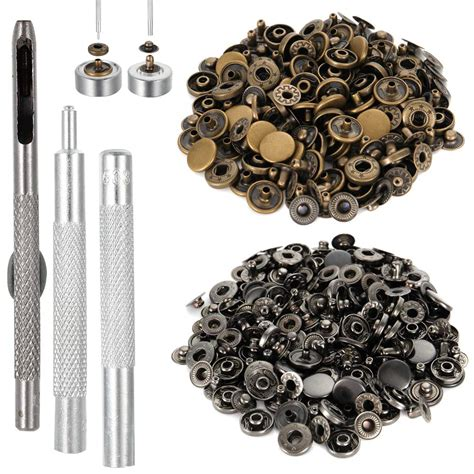 12 5mm 40sets lot metal snap buttons snaps press button fasteners with 4 pieces diy fixing press