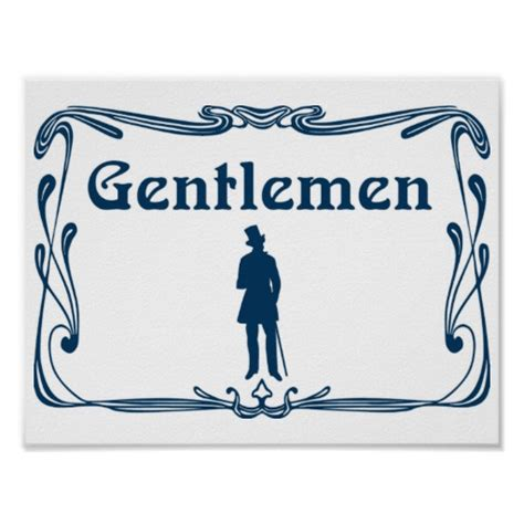 fancy bathroom signs fancy gentlemen restroom sign poster zazzle