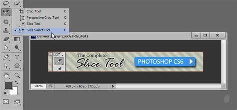tutorial crop photoshop cs5 image gallery slice tool