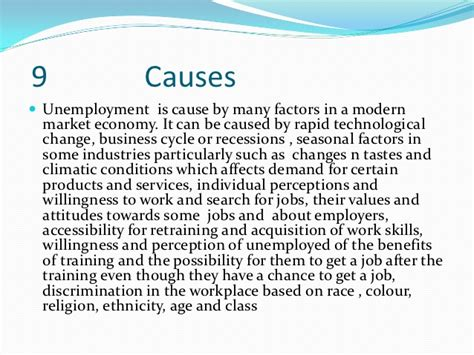 Essay On Cause And Effect Of Unemployment by Unemployment In Uk