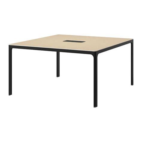 Bekant Meja Rapat Putih bekant meja rapat veneer birch hitam ikea