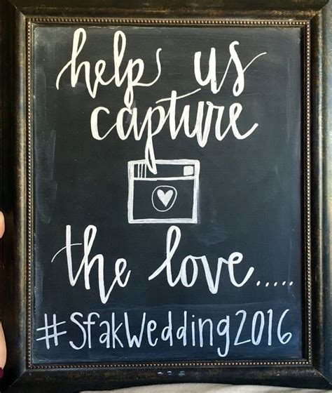 Wedding Hashtag Sign by Wedding Hashtag Chalkboard Sign Chalkboard