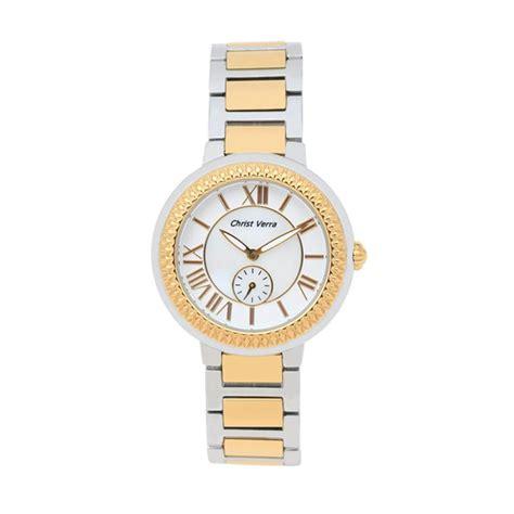 Jam Tangan Wanita Jam Fashion Wanita White jual verra cv 67184l 13 wht sg jam tangan fashion wanita white silver gold