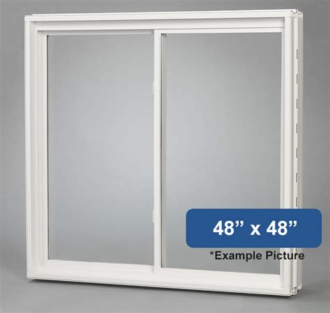 48 quot x 48 quot vinyl slider basement window buy online