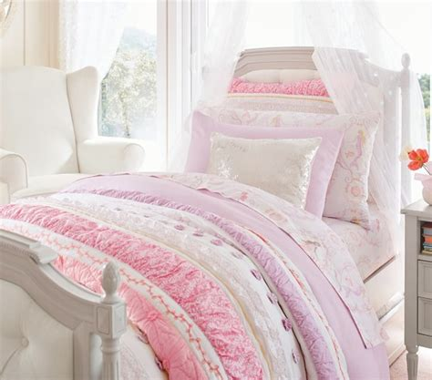 Quilted Duvet by Bailey Ruffle Quilted Bedding Pottery Barn