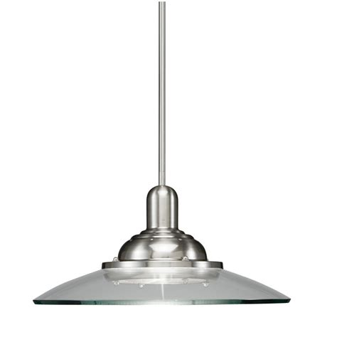 Allen And Roth Pendant Light Allen Roth Galileo 18 5 In W Brushed Nickel Pendant Light With Clear Shade Chandeliers