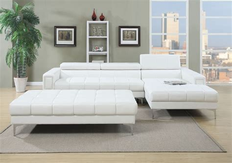 white leather sectional modern white bonded leather sectional sofa lowest
