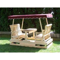double canopy glider  table outdoor livinglandscape