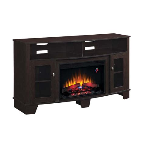 tv stands with fireplace insert classic la salle 62 inch tv stand with electric