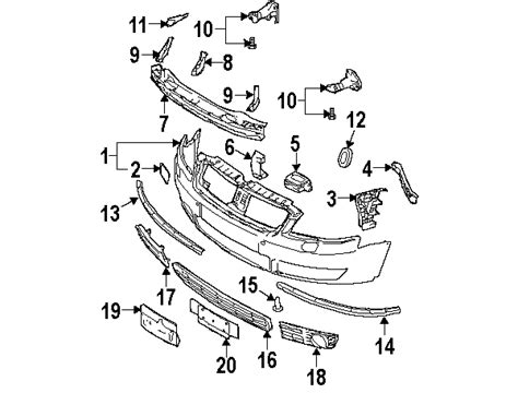 audi oem parts diagram parts 174 audi front bumper bumper and components outer
