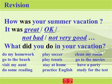 Vacation Was Fabulous Did A Lot Of Reading Did A Snarkspot by Unit 1 Where Did You Go On Vacation Ppt