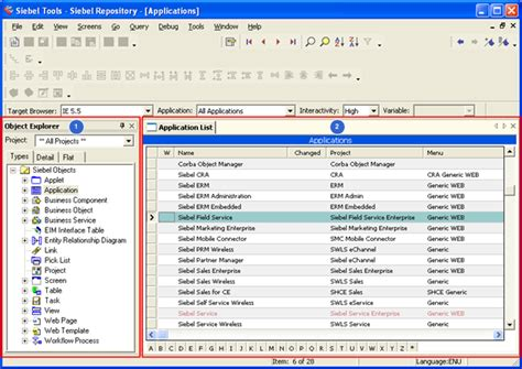 siebel ip 2014 overview of the object explorer and object
