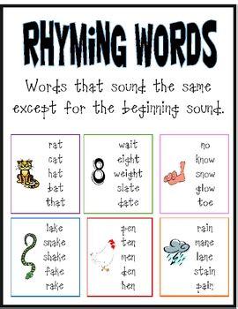 words with rhyme boxfirepress