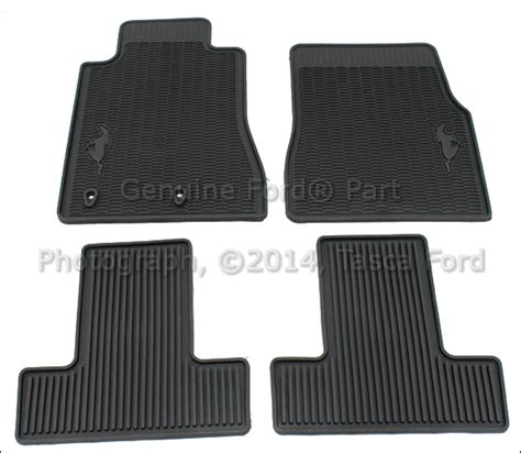 Ford Mustang All Weather Floor Mats brand new oem black all weather vinyl rubber floor mats