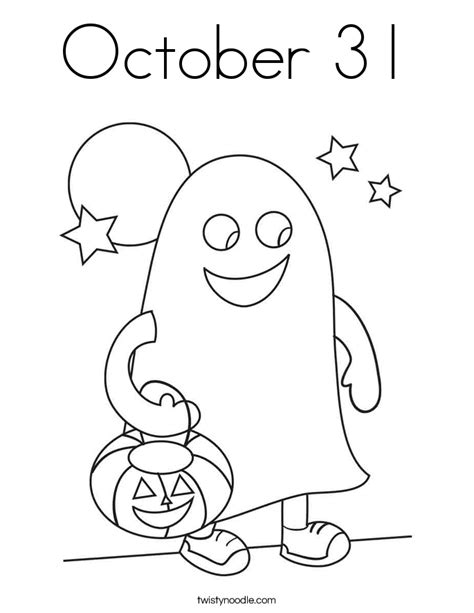 October 31 Coloring Page Twisty Noodle Coloring Pages For October