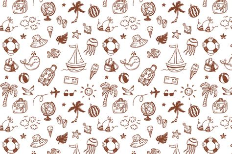 doodle summer summer doodles patterns by hala design bundles