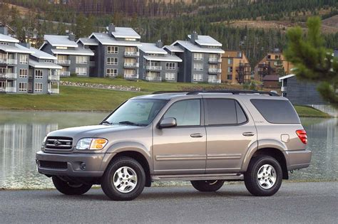 2001 toyota sequoia toyota s fullsize suv turned trail ready 2001 07 toyota sequoia consumer guide auto