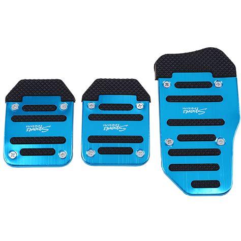 Pedal Pads Racing Isi 1 universal racing sport 3pcs non slip aluminum manual car pedals pad blue ebay