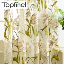 Tropical Print Curtains Top Finel Tropical Floral Print Semi Sheer Curtains For Living Room Bedroom Kitchen Printed