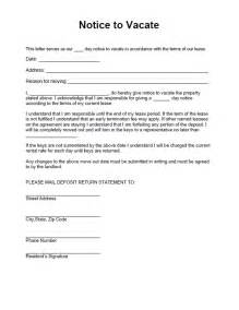 30 day notice to landlord sample letters