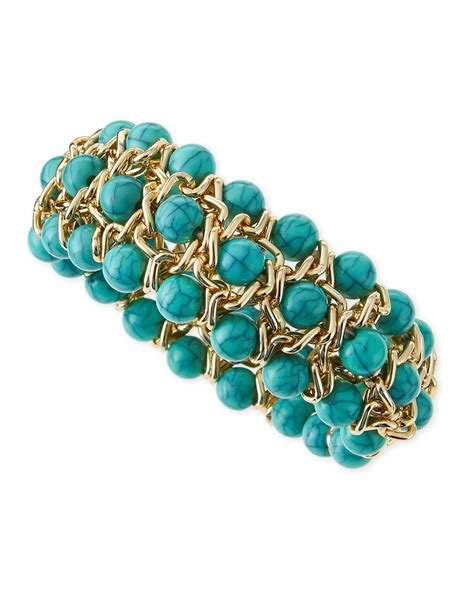 stretch beaded bracelets jules smith beaded stretch bracelet in gold yellow gold