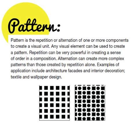 Art Definition Of Pattern | 17 best images about elements and principles of design on