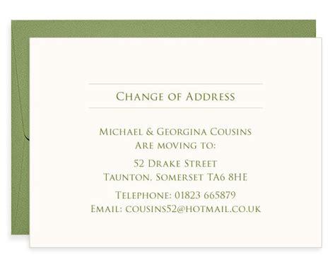 leaf letterpress change of address cards blush 176 176