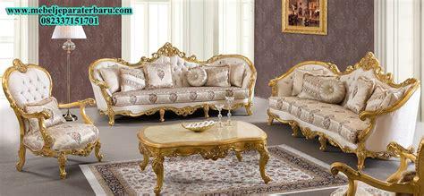 Kursi Ruang Tamu Ukiran set kursi tamu gold ukiran mewah mebel jepara terbaru