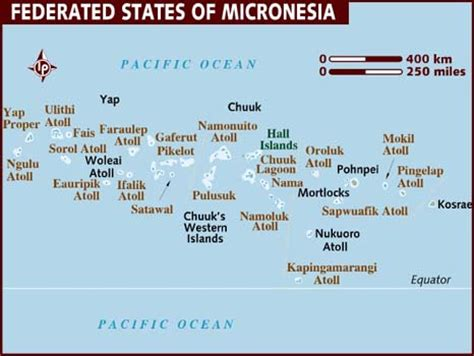 map of micronesia map of federated states of micronesia