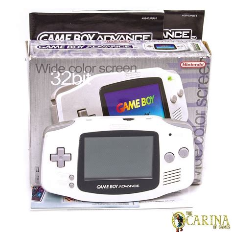 gba console arctic white nintendo gameboy advance retro console
