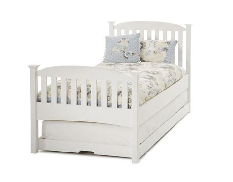 White Single Wooden Bed Frame Serene Eleanor 3ft Single White Wooden Guest Bed Frame With High Footend By Serene Furnishings
