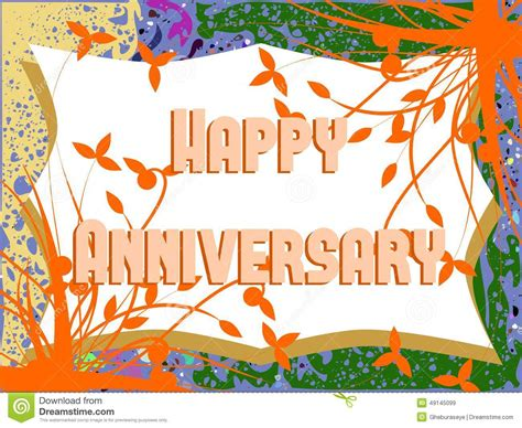 happy anniversary greeting card  leaves stock