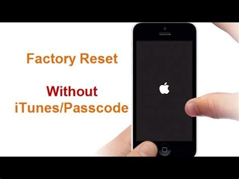 reset iphone online without itunes factory reset iphone 7 without passcode itunes youtube