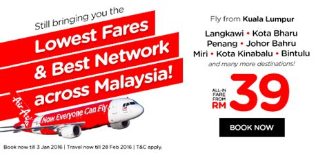 airasia malaysia promo airasia 2016 promo fly to langkawi kota bahru penang