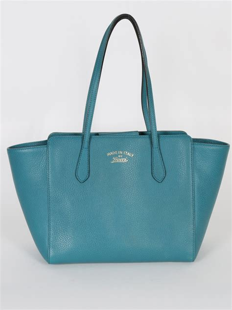 gucci swing tote gucci swing small turquoise leather tote luxury bags