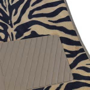 supreme zebra beige 4 piece plush high quality car auto carpet floor mats ebay