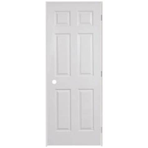 home depot white interior doors steves sons 28 in x 80 in 6 panel textured primed white solid evolution single prehung