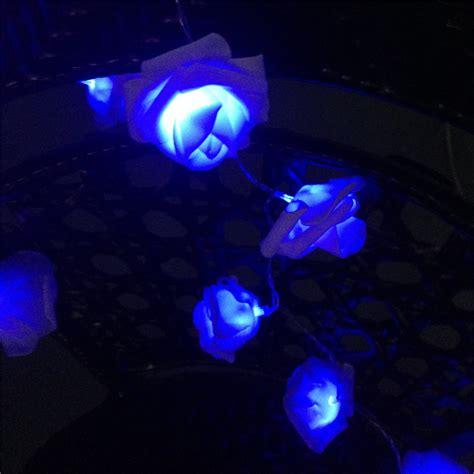 8 color night light 20 x led novelty rose flower fairy