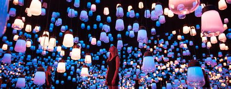 Magazine For Home Decor teamlab suspends forest of resonating lamps at maison et objet