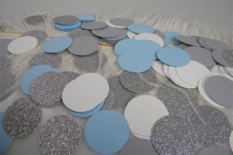Baby Shower Safari Cake by Confetti Light Blue Silver White Grey Party Decoration