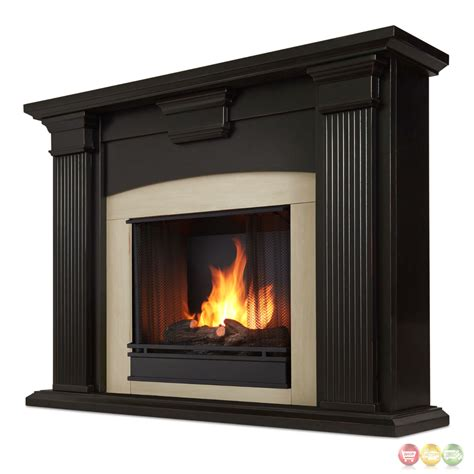 ventless fireplace logs adelaide ventless gel fireplace in antique blackwash with