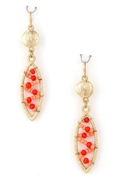 seed bead zig zag earring earrings